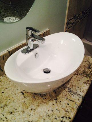 granitowa umywalka